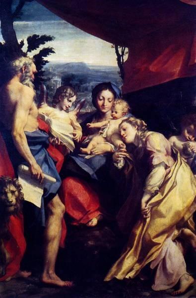 Madonna Of St Jerome